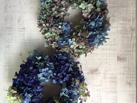 Z-Flower Design+_アジサイリース(プリザーブドフラワー)_2016