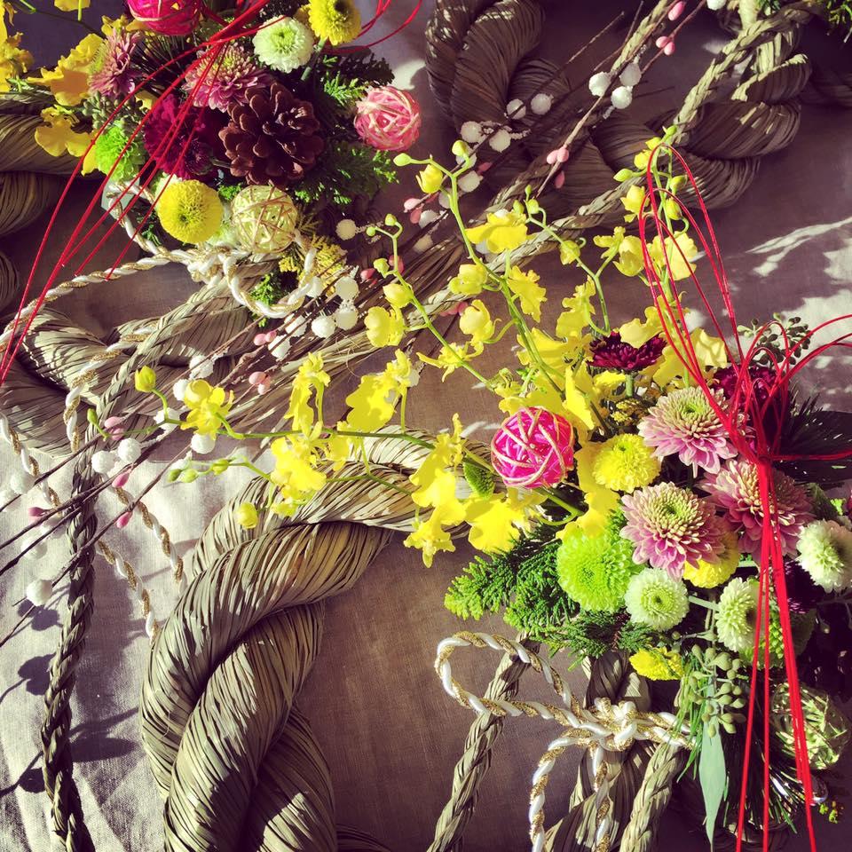 Z-Flower Design+_お正月稲穂の〆飾り_オーダー_販売_2015