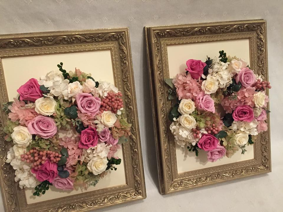 Z-Flower Design+_結婚式で記念の贈呈のプリザーブドフラワー_2015