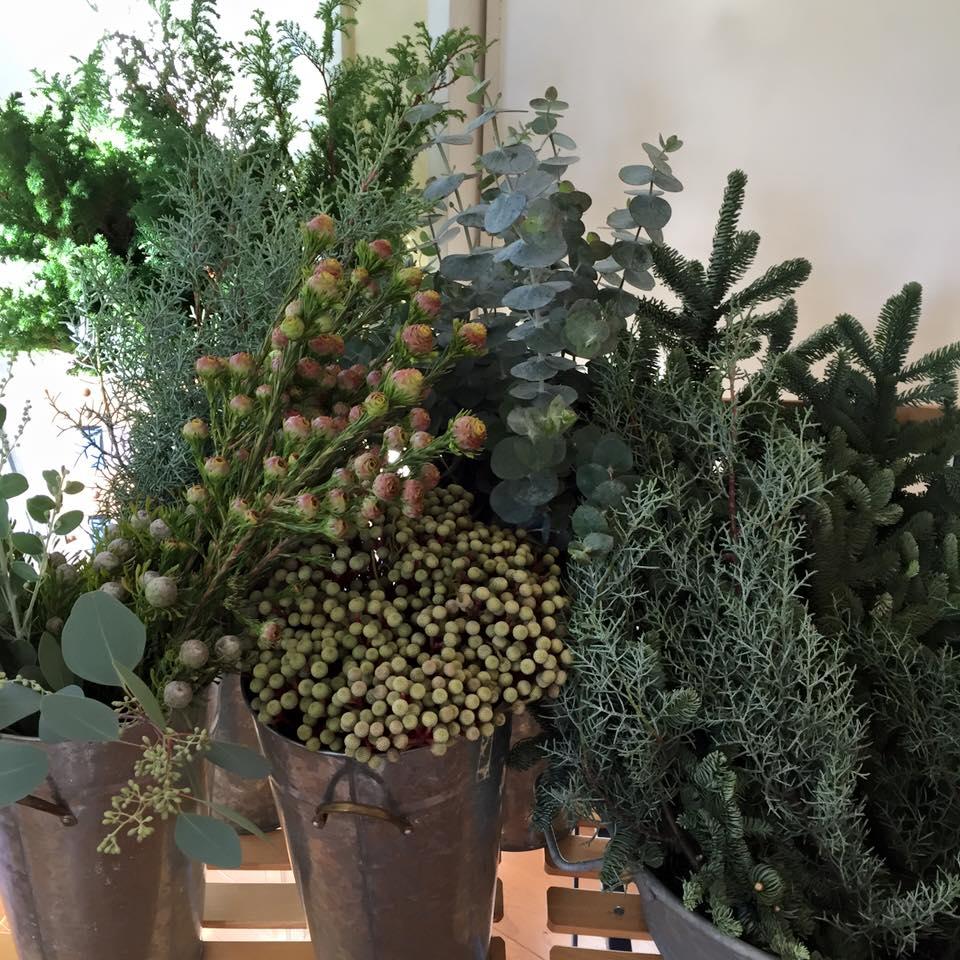 Z-Flower Design+_xmasリースの花材の針葉樹とユーカリ_2015