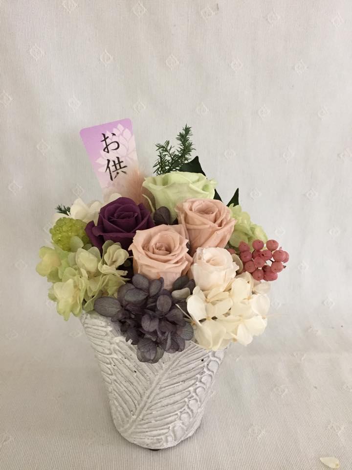 Z-Flower Design+お盆のお供え花をプリザーブドフラワーで贈る_2015