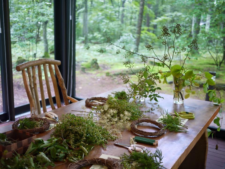 Z-Flower Design+_軽井沢で夏のイベント『森のリース』作りのワークショップ_2016