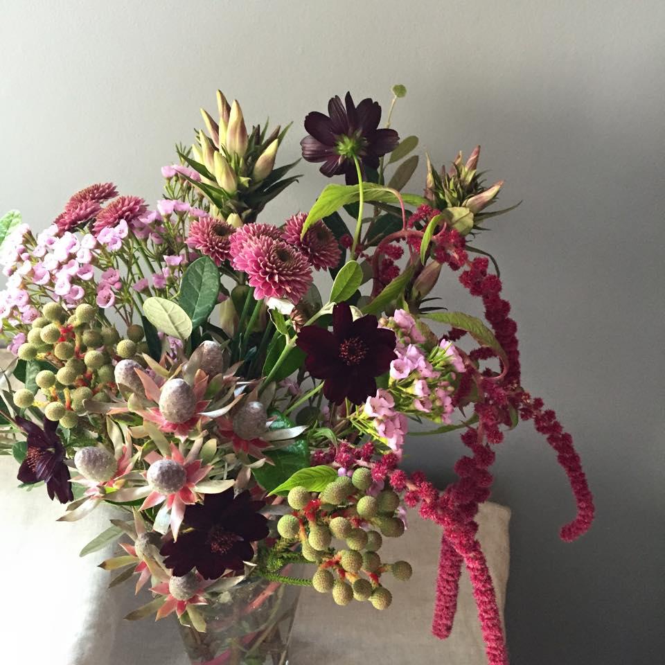 Z-Flower Design+_ガラス花器に生花をいける_2015