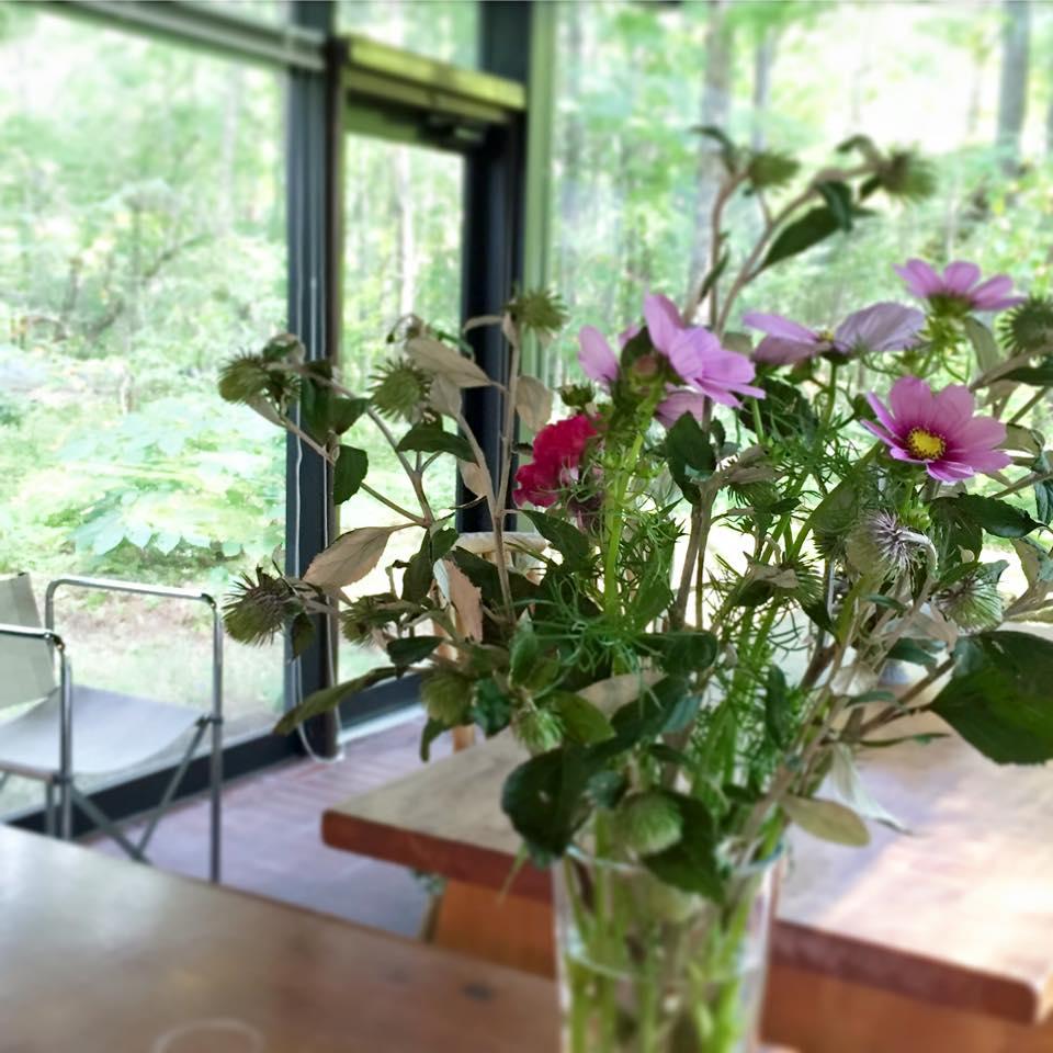 Z-Flower Design+_軽井沢のいろいろな秋の花でフラワーアレンジメント_2015